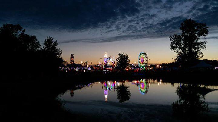 Liberty Fest 2017 scenic photo of festival lights over Heritage Pond