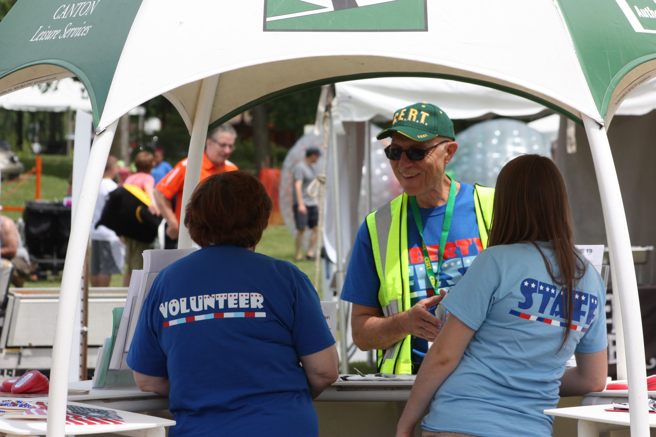 Volunteers at Special Events